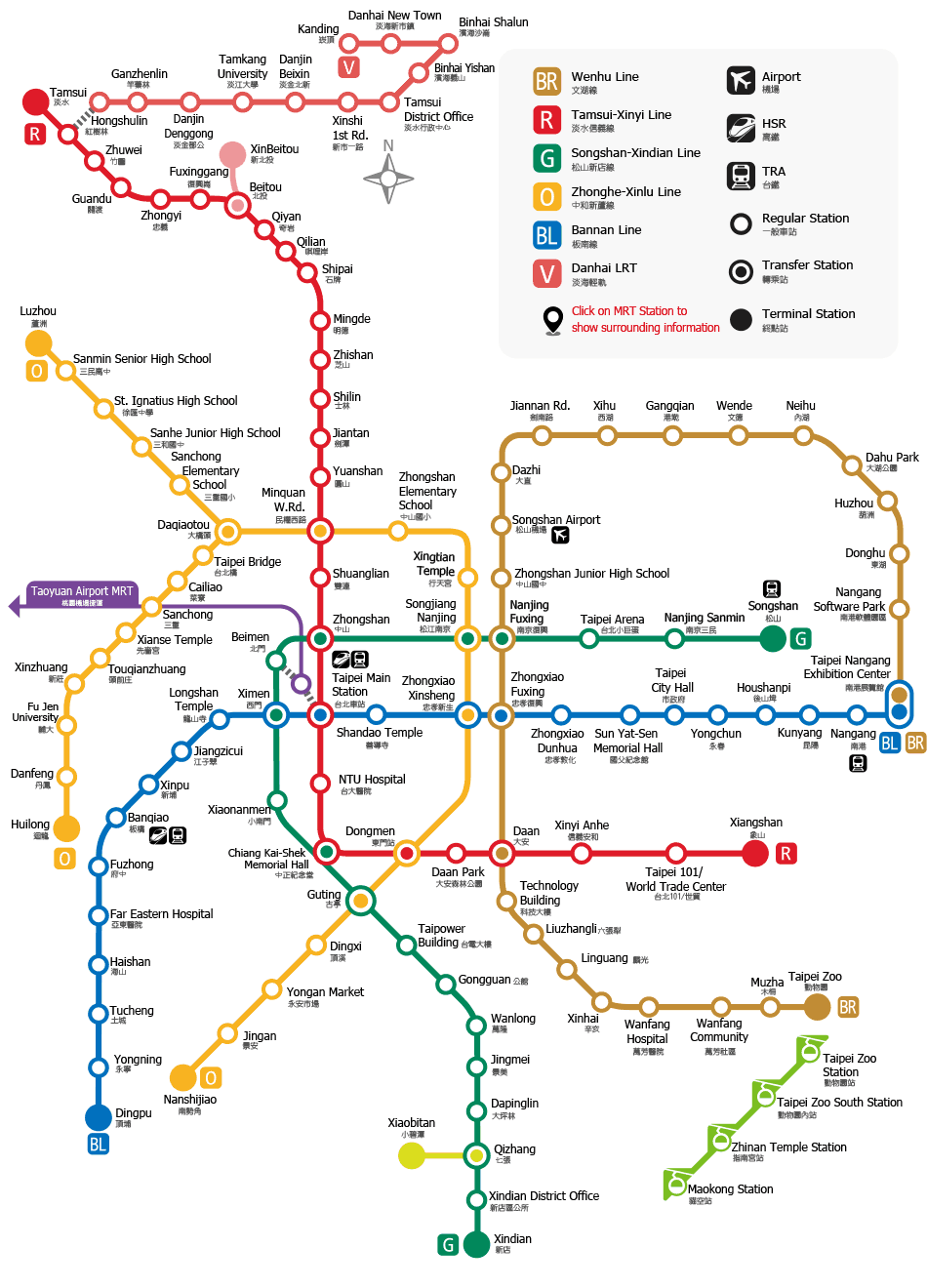 Mrt Taipei Mass Rapid Transportation Taipei Mrt Map Attractions
